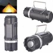 Felinar Camping LED Reincarcabil cu Lanterna cu Zoom - Panou Solar si USB