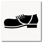 Placa obrigatório uso de sapato fechado de EPI 20x20 cm em ps 2mm