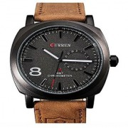 CURREN BRAND CHRONOGRAPH STYLED MENS LEATHER STRAP WRIST WATCH - BLACK by 7star