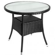 Ratanový stolek DE695 černá