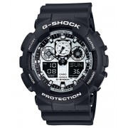 Ceas barbatesc Casio G-Shock GA-100BW-1AER White and Black Series