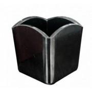 Suport patrat melamina RAKI pliculete zahar 6 5x6 5x6 5cm negru
