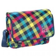 all out Barnsley Schultertasche Rainbow Check