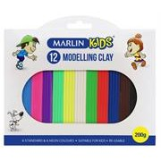 Marlin Kids Modelling Clay 200g 12 Colours –Non