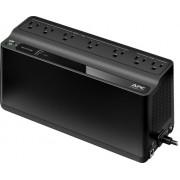 APC - Back-UPS 600VA 7-Outlet/1-USB Battery Back-Up and Surge Protector - Black