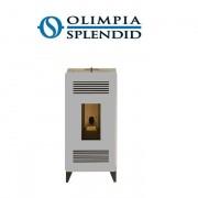Olimpia Splendid Stufa A Pellet Olimpia Splendid Mia Stile 9 Kw - 110 Mq Colore Silver