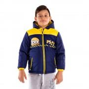 Детско яке Minions PS!! морско синьо със жълто