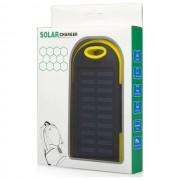Maxy Caricabatterie Solare F1 Power Bank Carica Batteria Usb 6000mah Universale Yellow Per Modelli A Marchio Sony Ericsson