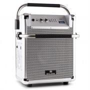 Malone Rock Fortress Portable PA System 50W USB Bluetooth Radio AUX Silver