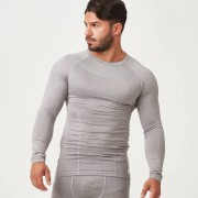 Myprotein Charge Compression Long Sleeve Top - L - Grey Marl