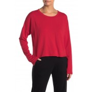 PST by Project Social T Gotta Move Fleece Lined Crop Pullover RED