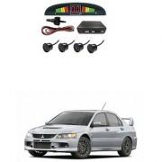 KunjZone Car Reverse Parking Sensor Black With LED Display Parking Sensor For Mitsubishi Lancer