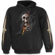 kapucnis pulóver férfi - Death Re-Ripped - SPIRAL - T110M451