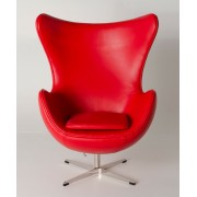 Replica Egg Chair-Red Italian Leather