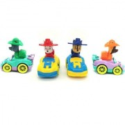 Emob Amazing Pack of 4 Friction Powered Wheels Cartoon Car Toy for Kids (Multicolor)