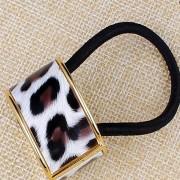 V&V Spona do vlasů, samozavírací obojek zvířecí motiv (světlý leopard) - V&V