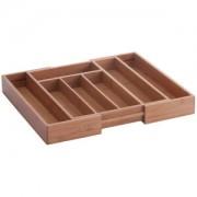 Zeller Present Handels GmbH Zeller Besteckkasten, ausziehbar, Ordnung in der Küche und der Schublade, Farbe: natur, Bamboo