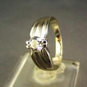 Zlatý dámsky prsteň so zirkónom biele zlato VP55351B