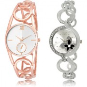 The Shopoholic Silver Combo Best Combo Pack Silver Dial Analog Watch For Girls Fashion Watches For Womens