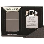 Bricheta Zippo Black Ice + insertie extra pentru pipa
