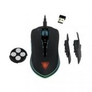 Мишка Gamdias HADES M1, оптична (10800dpi), жична/безжична, 7 бутона, USB, черна, гейминг, RGB подсветка