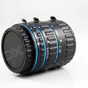 31mm / 21mm / 13mm afauto foco tubo de extension macro para camara canon - negro + azul
