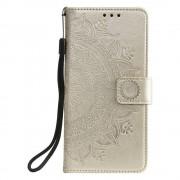 Shop4 - Xiaomi Mi 9T Hoesje - Wallet Case Mandala Patroon Goud