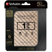 2,5 HDD (merevlemez), 1TB, USB 3.0, VERBATIM Store n Go Limited Edition, arany (HV1TSGG)