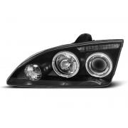 Přední světla, lampy Angel Eyes Ford Focus 04-08 černá H1