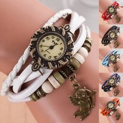 New Colleg Looks Leather Strap Watch Hand-knitted Leather watch women' watches ( Only 1 Colour Piss)