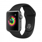 Apple Watch Series 3 38mm Space Grey - Cinturino Sport Nero