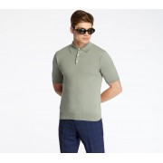 Pietro Filipi Men's Knitted Polo Shirt Menthol