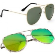 Phenomenal Aviator Sunglasses(Green, Yellow)