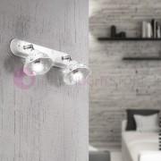 Ceramiche Borso Corolla Lampada Da Parete O Soffitto A 2 Luci Orientabili Ceramica E Cristalli