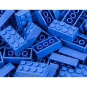 Imex 2x4 Stud Ocean Blue LEGO Compatible Bricks, 100pc