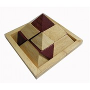 VolksRose 3D Wooden Brain Teaser Puzzle #45 - Interlocking Jigsaw Puzzles for Teens and Adults - Challenge Your Logical Thinking
