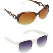 Hrinkar Over-sized Sunglasses(Brown, Grey)