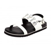 Wishot Białe sandały damskie WISHOT DS842