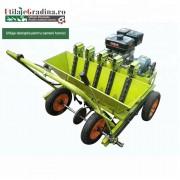 Masina de cultivat usturoi cu motor termic in 4 timpi
