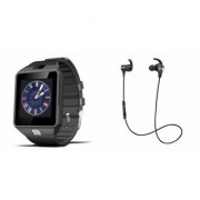 Zemini DZ09 Smart Watch and Reflect Earphone for SAMSUNG GALAXY NOTE II(DZ09 Smart Watch With 4G Sim Card Memory Card| Reflect Earphone)