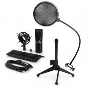 Auna MIC-900B V2, USB микрофонен комплект, кондензаторен микрофон + pop-filter + стойка за маса (60001941-V2)