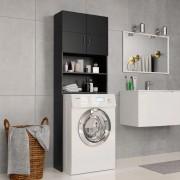 vidaXL Armário máquina de lavar roupa 64x25,5x190 cm aglomerado preto