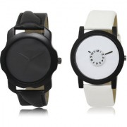 The Shopoholic Black White Combo Fashionable Funky Look Black And White Dial Analog Watch For Boys Mens Watches For Men