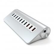 Satechi 10-Port Aluminium Hub - алуминиев 7-портов USB 3.0 хъб за компютри и лаптопи и 3 USB изхода (4.1А)