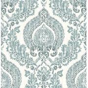 NuWallpaper NU1702 Peel and Stick Wallpaper Kensington Damask Blue