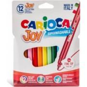 Carioca super lavabila CARIOCA Joy varf subtire 2.6mm 12 culori-cutie