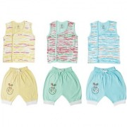 Jo kids wear Baby Boy Cotton Dress Set (Top and 3/4th Pant) Multi Color Set of 3 (1014)