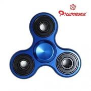 Premsons Fidget Spinner Metal Aluminium Hand Spinner Four Bearing Ultra Speed Tri-Spinner Toy - Metallic Blue