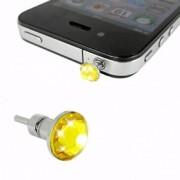 iPhone 4 iPad Hörlursuttag Smycke Kristall (Guld)