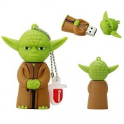 Boyi Outdoor Memorias USB Unidad Flash USB Memoria Flash USB Star Wars Department Creativo Dibujos Animados Anime PVC U Disco 4G / 8G / 16G / 32G / 64G / 128GB 2.0 USB Portátil (8GB,Yoda -2 1pcs)